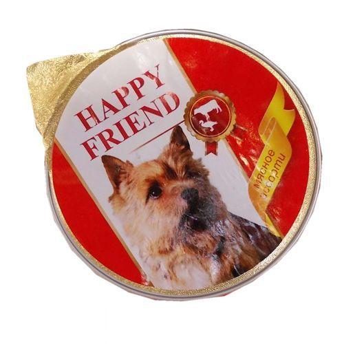 Корм для собак HAPPY FRIEND Паштет мясное ассорти конс.125г