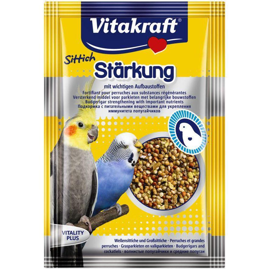 Подкормка для птиц VITAKRAFT укрепление организма для попугаев 30г аудио для попугаев