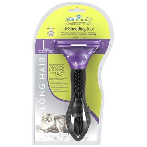 Фурминатор для кошек FURminator для больших длинношерстных пород 7см фурминатор furminator deshedding tool long hair l large cat для больших длинношерстных кошек 7см