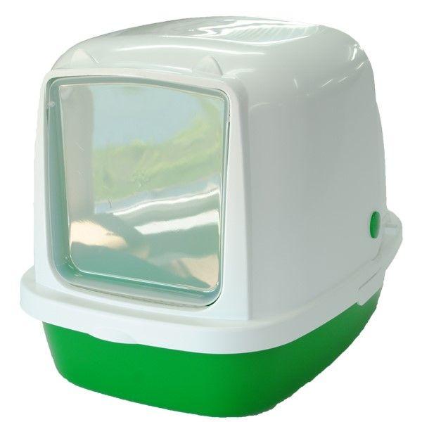 Туалет для кошек HOMECAT закрытый зеленый перламутр 53х39х48см