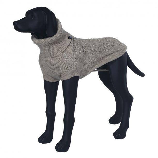 Свитер для собак RUKKA Stardust Knitwear светоотражающий бежевый M 38см