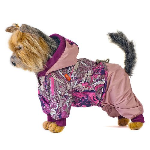 Комбинезон для собак HAPPY PUPPY Сити розовый 4 32см костюм для собак happy puppy дачный розовый размер 1