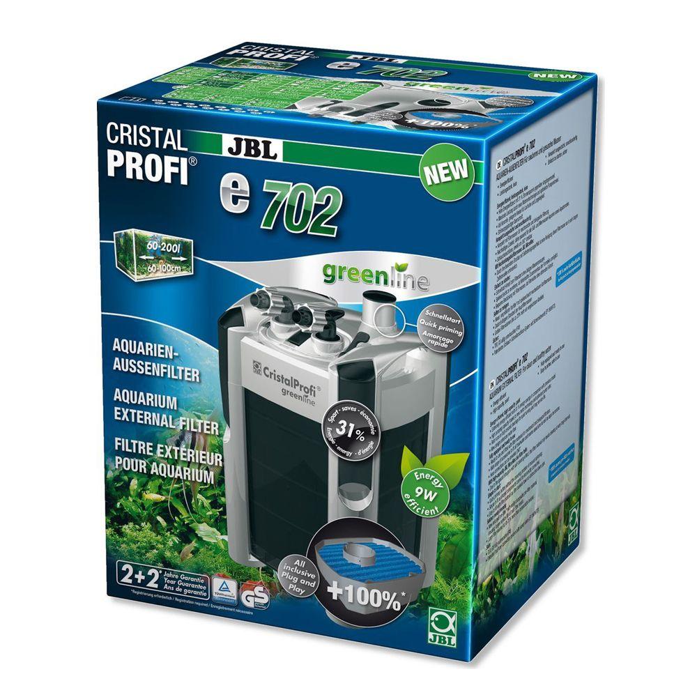 Фильтр JBL CristalProfi e702 greenline Эконом. внешний фильтр для аквариумов от 60 до 200л фото
