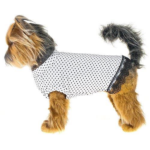 Платье для собак HAPPY PUPPY Джулия 3 28см лежак для собак happy puppy узоры 3 57х44х15см