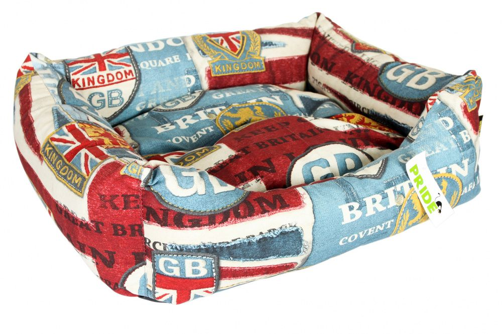 Лежак для собак Pride Винтаж Британия 70х60х23см кольцо винтаж cesare conte