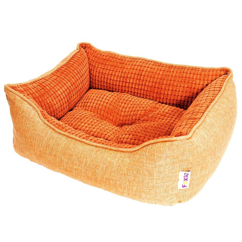 Лежак для животных Foxie Colour 60х50х18см оранжевый недорого