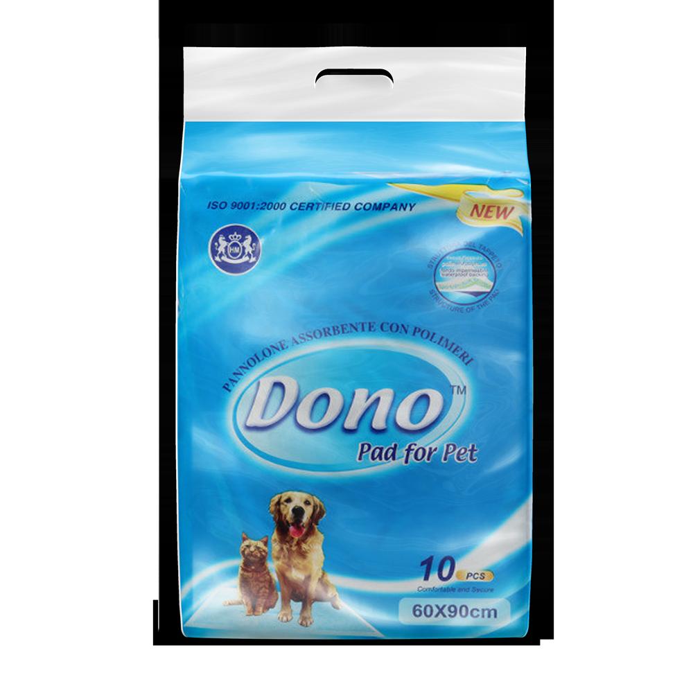 Одноразовые впитывающие пеленки Dono PET PAD 60x90, 10шт