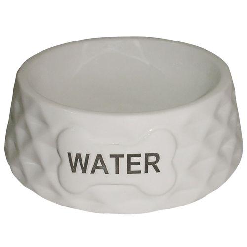 Миска для животных Foxie Diamond Water белая керамическая 15,5х15,5х5см 200мл миска для животных foxie сковородка оранжевая керамическая 16х13х3см 200мл