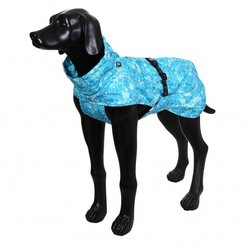 Дождевик для собак RUKKA Drizzle голубой, размер 45