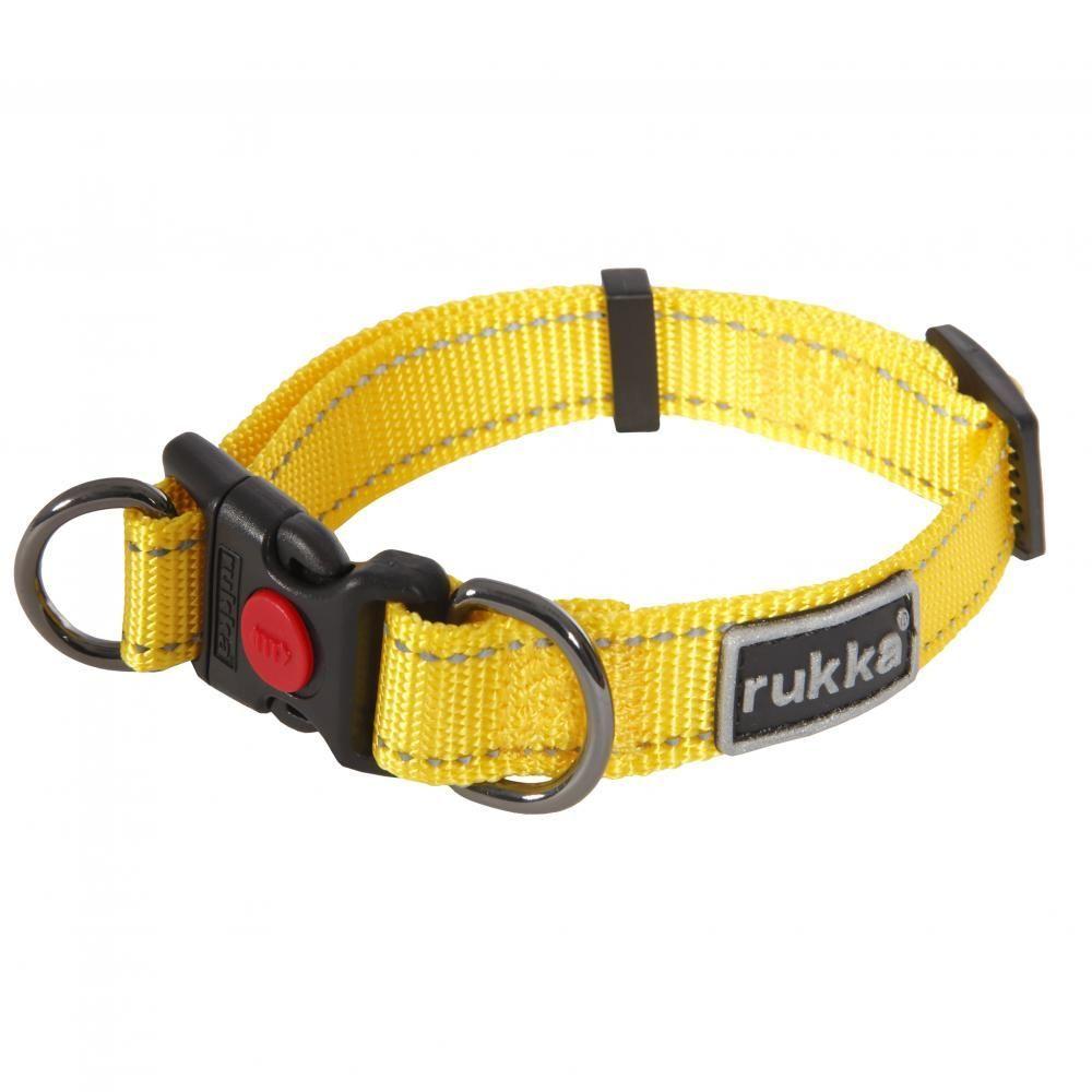 Ошейник для собак RUKKA Pets Bliss Polar Collar 20мм/30-40см Жёлтый ошейник для собак rukka bliss collar 20мм 30 40см оранжевый