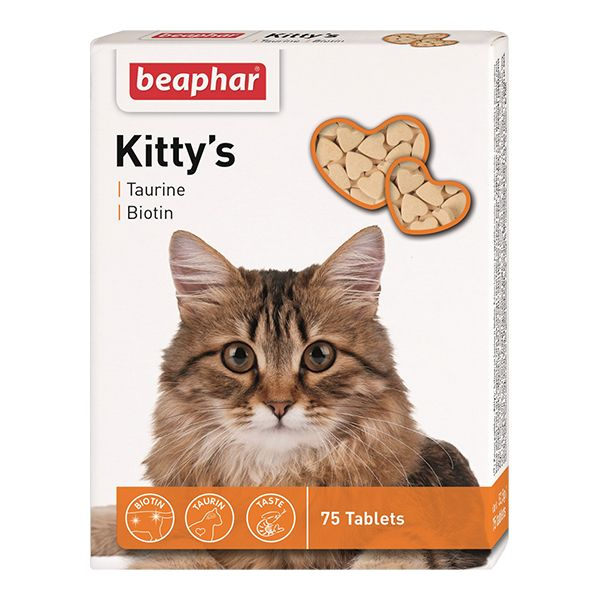 Витамины для кошек Beaphar Kitty's+Taurine+Biotin