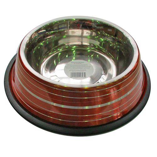 Миска для животных ХОРОШКА Day Light Colors металлическая, для корма и воды 0,7л