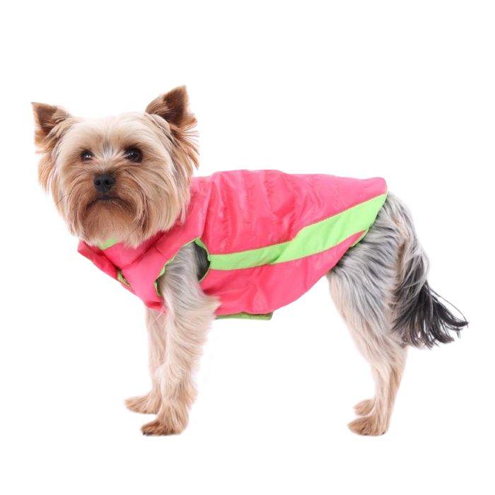 Жилет для собак YORIKI Контраст Розовый унисекс размер ХL 32см маска люмино контраст