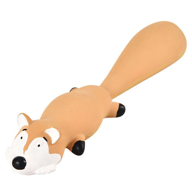 Игрушка для собак Foxie Лиса с пищалкой 25см латекс