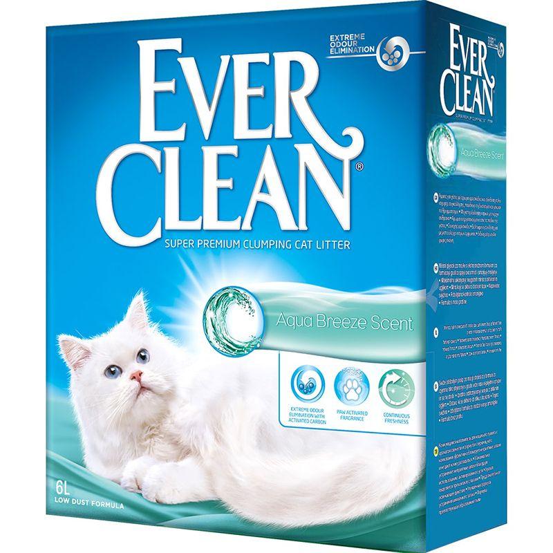 цена на Наполнитель для кошачьего туалета EVER CLEAN Aqua Breeze комкующийся, аромат Морской бриз 6литров