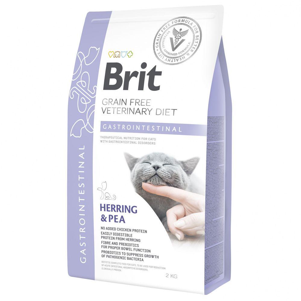 Корм для кошек Brit VDC Gastrointestinal беззерновая диета при остр. и хрон. гастроэнтеритах сух. 2кг