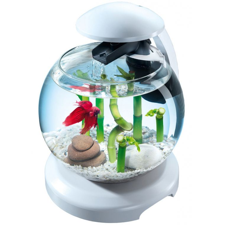 Аквариумный комплекс TETRA Cascade Globe White шар белый 6,8л аквариумный набор 6 8 л tetra cascade globe белый