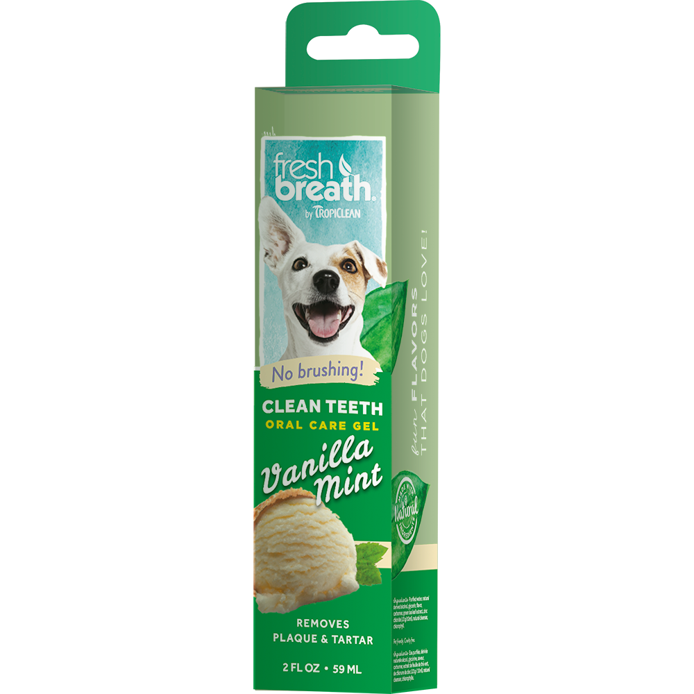 Гель для чистки зубов TROPICLEAN с ванилью и мятой для собак, 59 мл десерт б ю александров чизкейк творожный с ванилью 40г