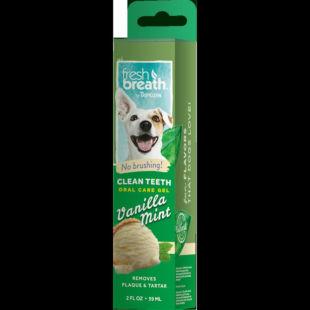 Гель для чистки зубов TROPICLEAN с ванилью и мятой для собак, 59 мл tropiclean fresh breath gel vanilla mint гель для собак для чистки зубов ваниль и мята 59 мл