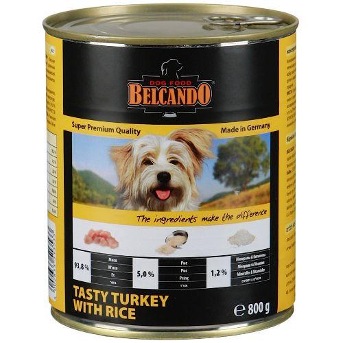 Корм для собак Belcando Индейка, рис конс. 800г цена и фото