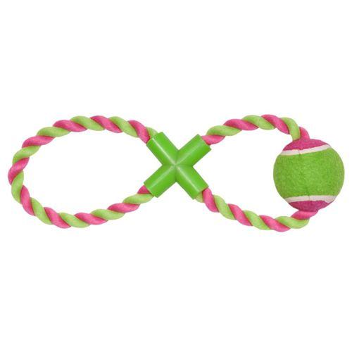 цена на Игрушка для собак CHOMPER Puppy Теннисный мяч на канате