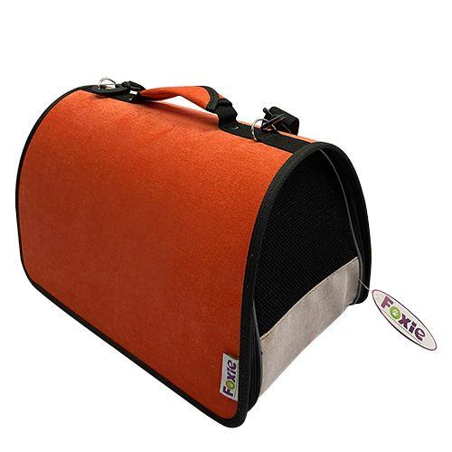 Сумка-переноска для животных Foxie Colour 44х27х27см оранжевая фото
