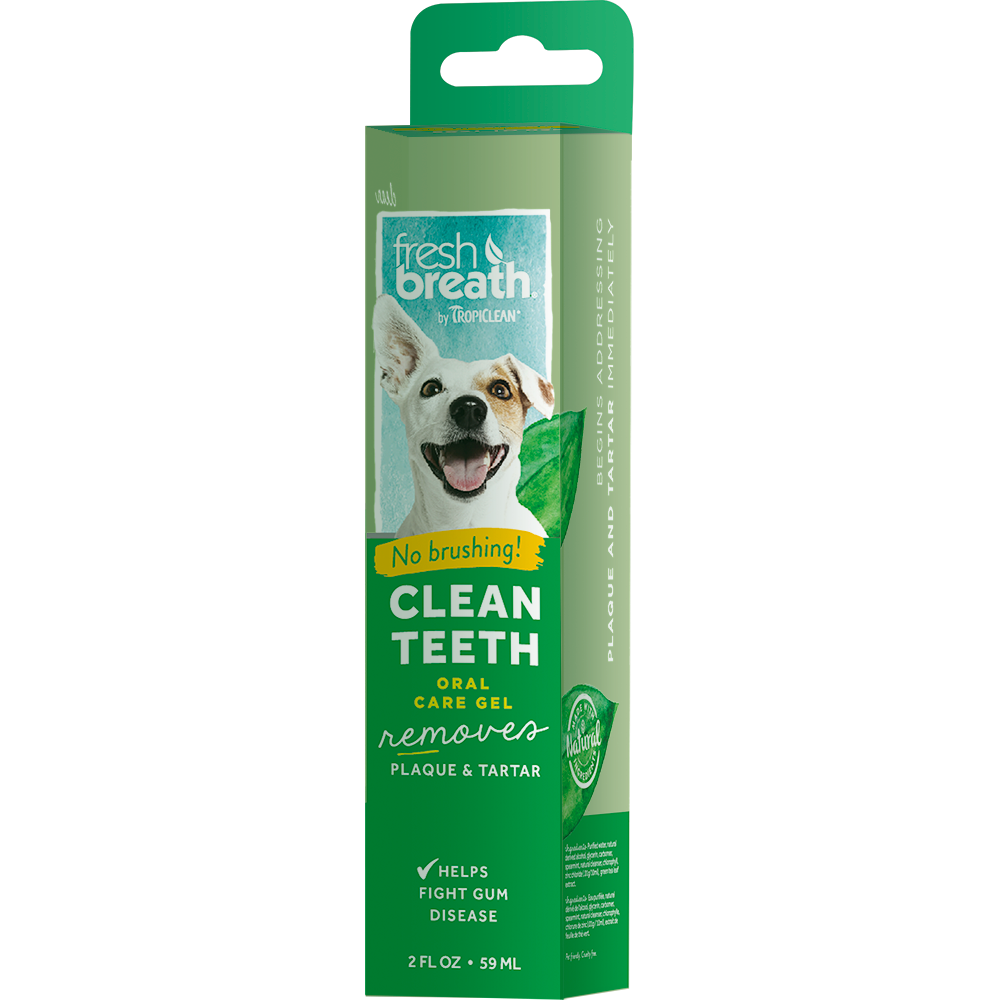 Гель TROPICLEAN Свежее дыхание для чистки зубов 59мл tropiclean fresh breath gel vanilla mint гель для собак для чистки зубов ваниль и мята 59 мл