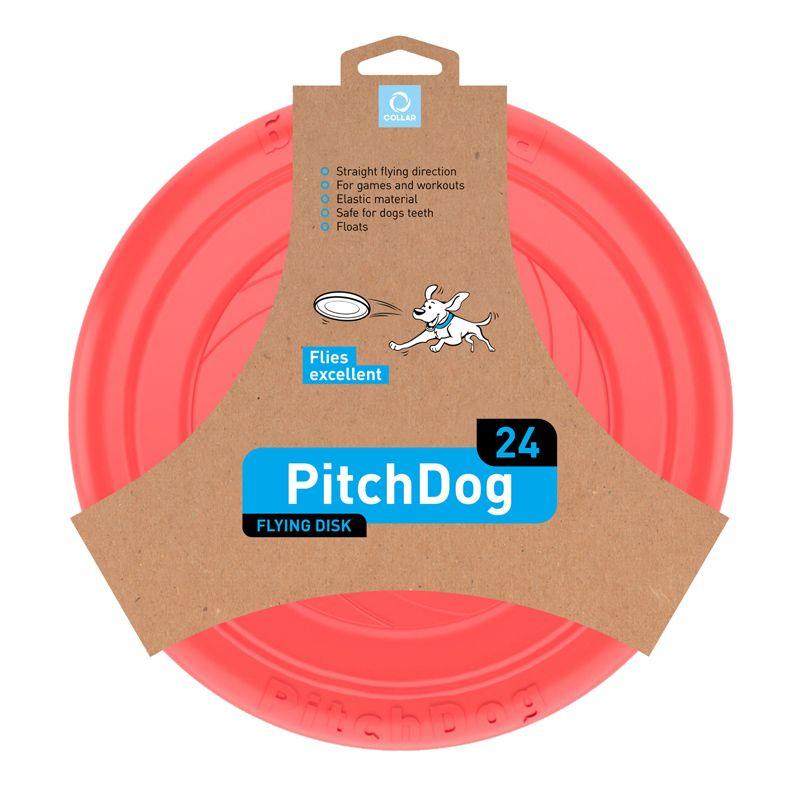 Игрушка для собак PitchDog Летающий диск d 24см красный диск