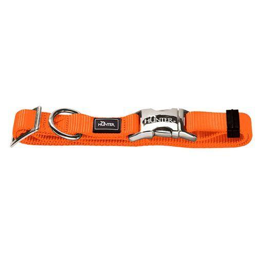 Ошейник для собак HUNTER ALU-Strong L нейлон оранжевый 45-65см цена