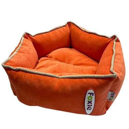 Лежак для животных Foxie Colour Звезда 51х51х22см оранжевый фото