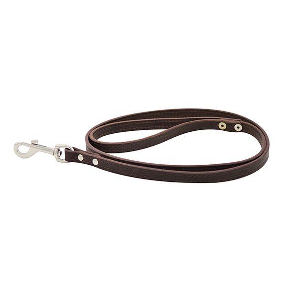 Поводок для собак ZOOEXPRESS 2сл 14мм 2м коричневый фото