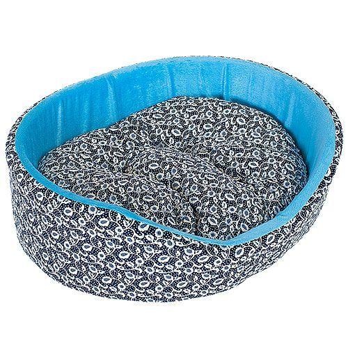 Лежак для собак HAPPY PUPPY Узоры-2 48х39х15см цена и фото