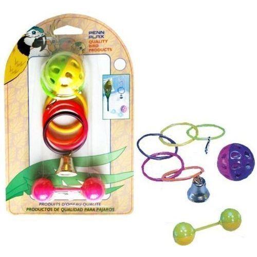 Игрушка для птиц PENN-PLAX ВА524 Набор: кольца, мяч, штанга