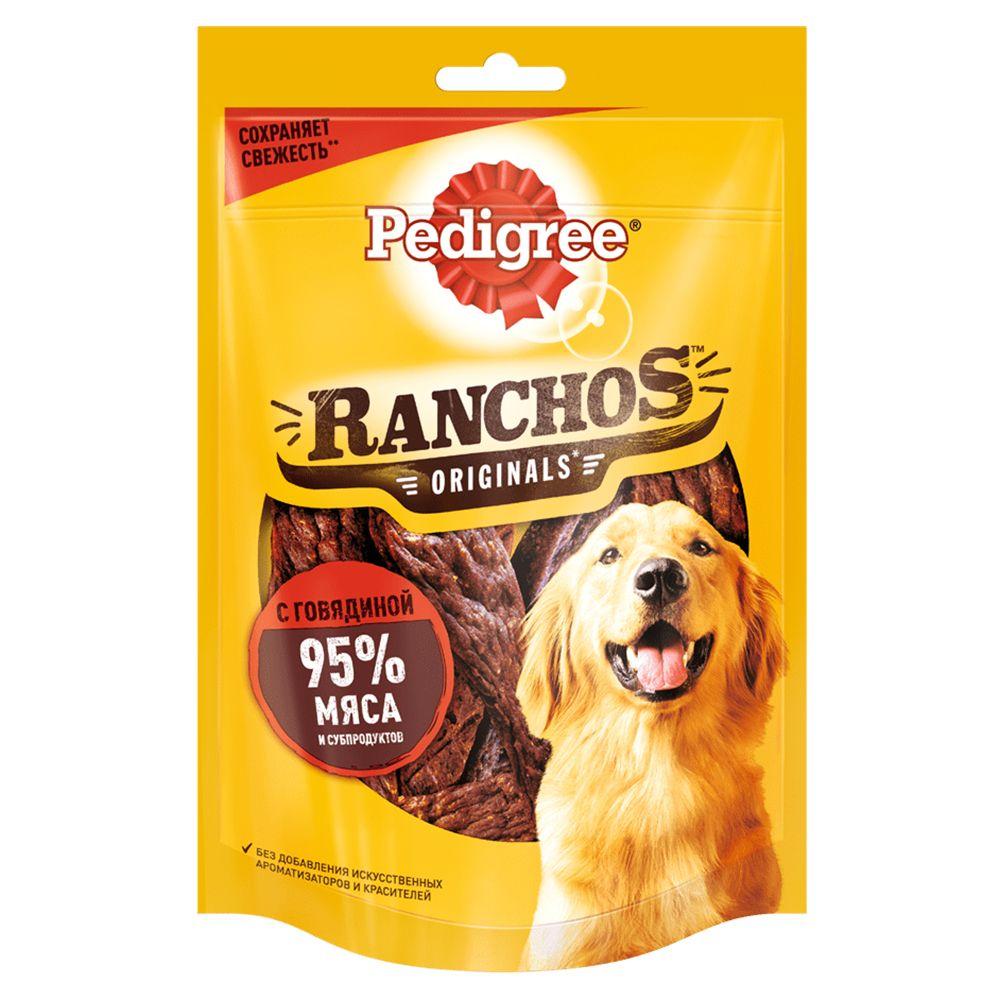 Фото - Лакомство для собак Pedigree Ranchos мясные ломтики с говядиной 58г pedigree pedigree ranchos лакомство для собак с говядиной 58 г