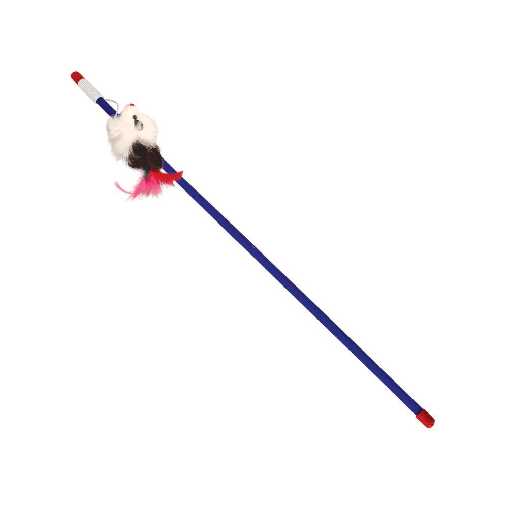 Игрушка для кошек TRIOL Удочка-дразнилка Мышка 65/500мм игрушка для кошек triol удочка дразнилка перья 2 22121025