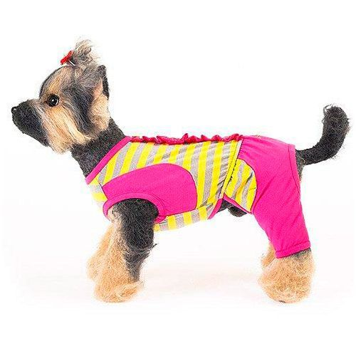 Костюм для собак HAPPY PUPPY Дачный розовый размер 4 32см майка для собак happy puppy пляжная унисекс цвет белый голубой красный размер 4 xl