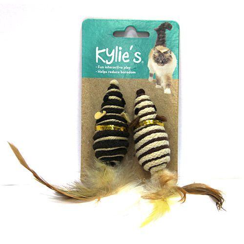 Игрушка для кошек CHOMPER Natural Набор Мышки мини с пером 2шт