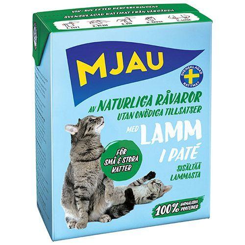 Корм для кошек MJAU мясной паштет с ягненком конс.