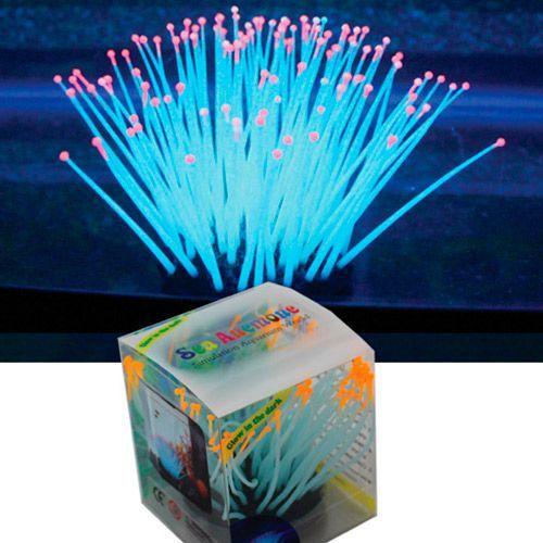 Декор для аквариумов JELLYFISH Морской анемон разноцветный, светящийся в темноте,большой 7,5х7,5х9см