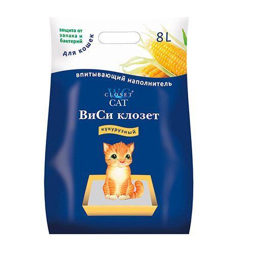 Наполнитель для кошачьего туалета WC CLOSET кукурузный (гранулы) 8л