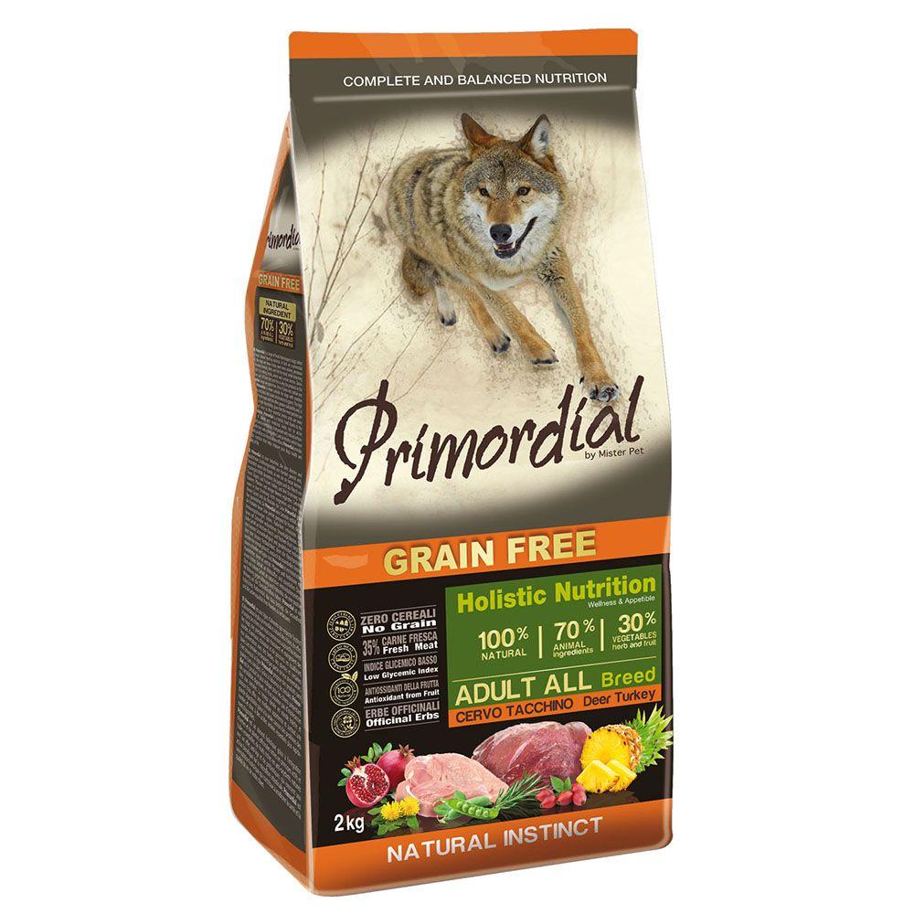 Корм для собак PRIMORDIAL беззерновой оленина, индейка сух. 2кг