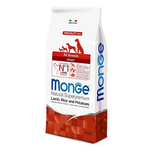 Корм для собак Monge Dog Speciality ягненок с рисом и картофелем сух. 12кг все цены