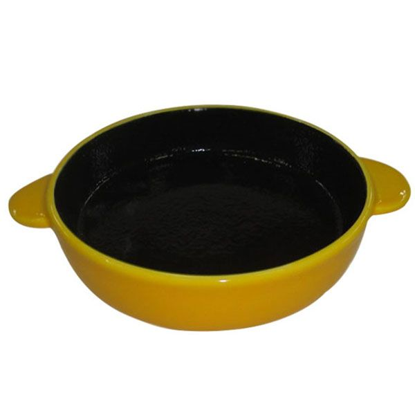 Миска для животных Foxie Сковородка оранжевая керамическая 16х13х3см 200мл