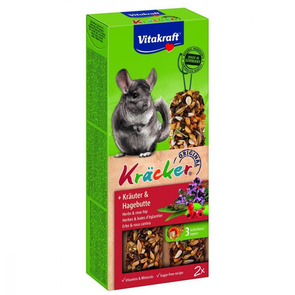 Лакомство для грызунов VITAKRAFT Крекеры для шиншилл с травами (2шт.уп) лакомство для кроликов vitakraft крекеры original свекла и овощи 112 г