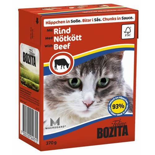 Корм для кошек BOZITA Кусочки в соусе с говядиной конс.370г bozita bozita sensitive hair