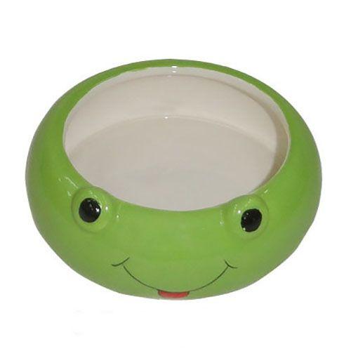 Миска для грызунов Foxie Frog зеленая керамическая 8,5х2,5см 80мл