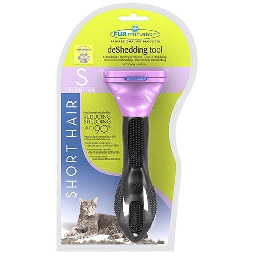 Фото - Фурминатор для кошек FURminator для маленьких короткошерстных пород 4см фурминатор для собак furminator для длинношерстных мелких пород 4см