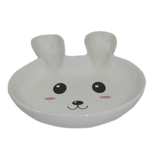 Миска для грызунов Foxie Rabbit белая керамическая 14,5х12,5х2,5см 80мл