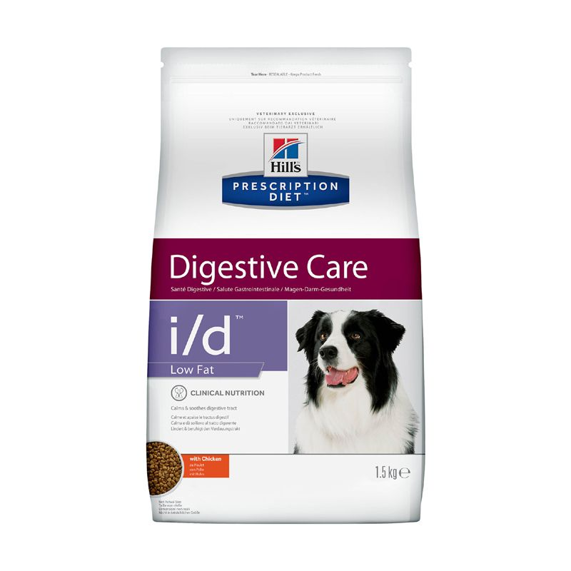 Корм для собак Hill\'s Prescription Diet Canine I/D лечение заболеваний ЖКТ низкокалорийный, курица сух. 1,5кг
