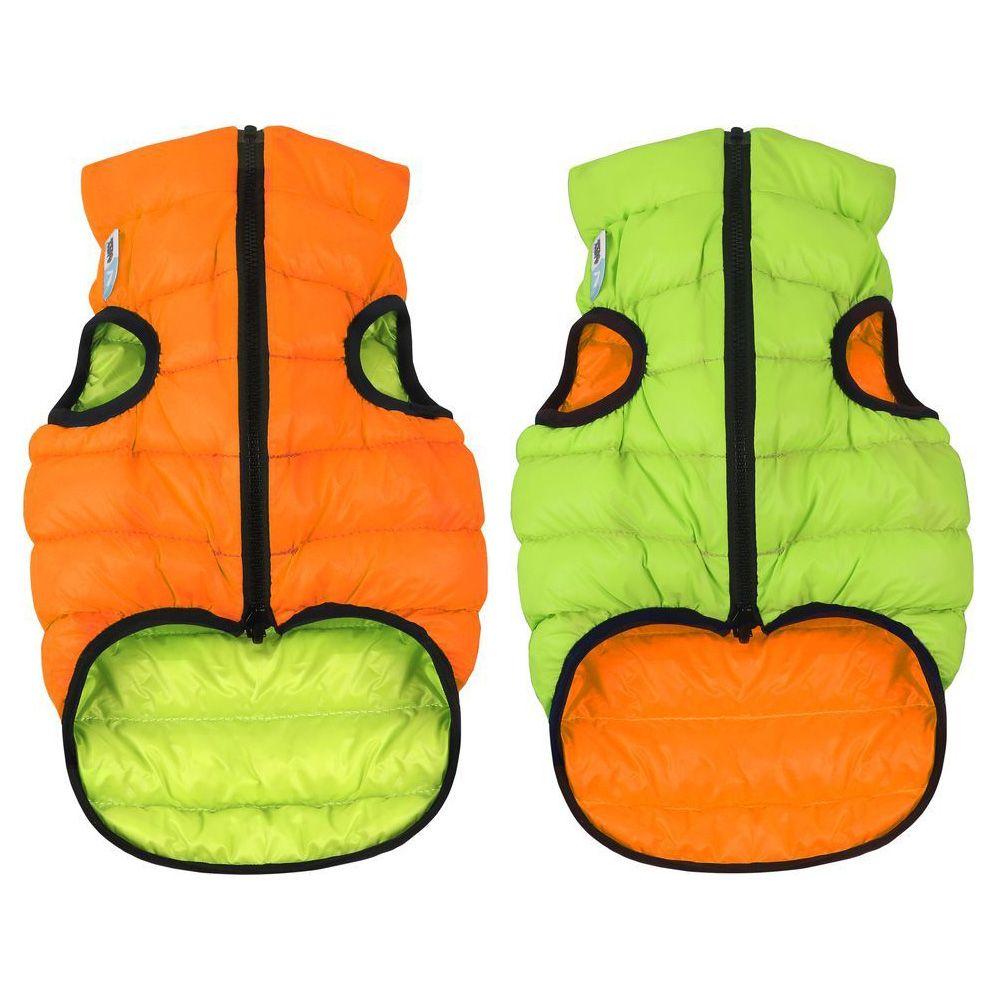 Курточка двухсторонняя AiryVest размер М 45см оранжево-салатовая цена и фото